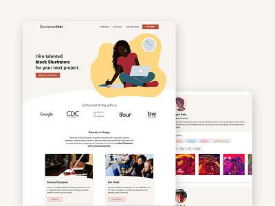 IllustratorHub - Database Website Design webflow database web design