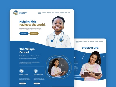 The Village School education logo education website education web design