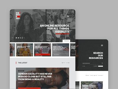 Being Racist is Stupid - Website Design webflow blog equality racism branding logo design ui website design web design website