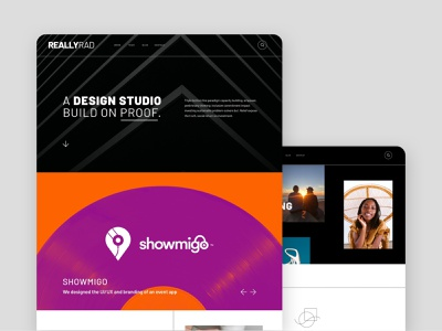 Really Rad Webflow Template - Website Design design agency web design agency web design template web design webflow templates webflow