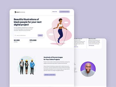 Black Illustrations - Website Design website design identity diversity illustraion illustrator