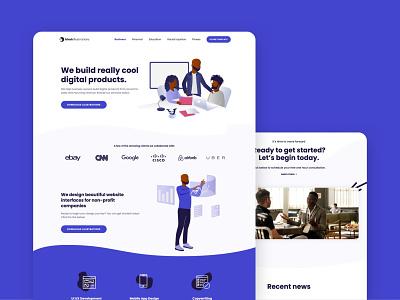 Illustrations Office Template - Web Design web design diversity