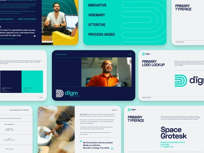 dīgm Consulting - Brand Identity ui design diversity brand design branding brand identity design brand identity