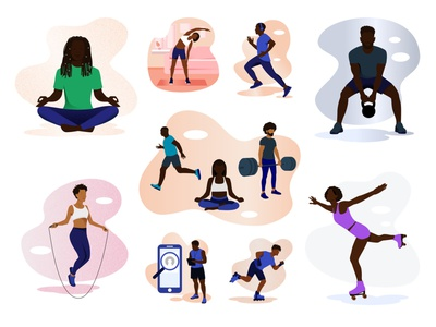 Fitness and Health is Wealth Illustrations illustrations/ui illustration art illustrations