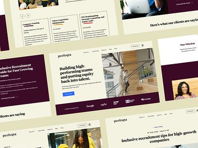 Perfeqta diversity branding website design web design dei