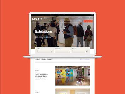 Museum of African Diaspora website design brand design logo design web design museum