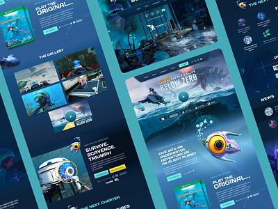 Subnautica video games web design illustration logo