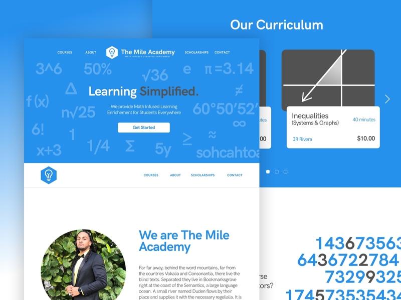 The Mile Academy - Web Design web design