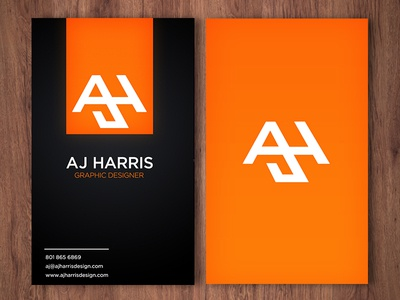 Business card by aj harris dribbble business card this is my colourmoves