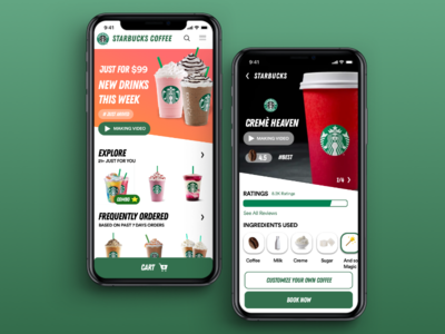 Starbucks Coffee Order App Concept