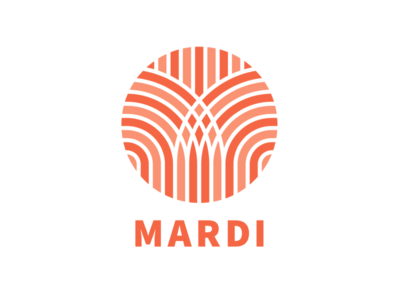 Mardi Logo thailand bangkok pattern weave woven orange logo furniture decor mardi