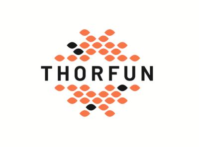 Thorfun Logo weave woven orange scales interior decor furniture fish koi logo thorfun