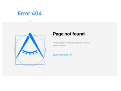Error 404 design for iOSGLYPHS