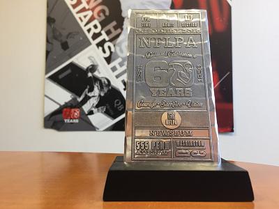 NFLPA 60th Diamond Celebration Invitation/Ticket invite ticket logo anniversary 60th anniversary nflpa