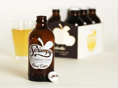Scrumpy Cider Packaging cider packaging apple beer scrumpy ale