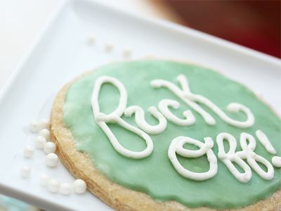 Fuck Off Cookie typography cookie lettering sweets bold bakery frosting food type