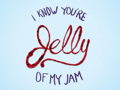 Jelly Type typography jelly lettering jam food type hand-made puns