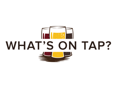 What's on Tap Heading beer tap taproom icon heading brew