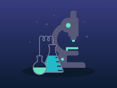 Do Science. flat beaker lab microscope science