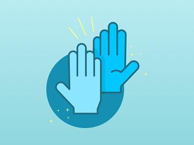 High Five! high five clap hands illustration flat