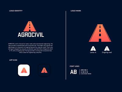AGROCIVIL identity lettering icon website typography vector branding design illustration logo