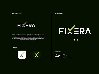 FIXERA Logo ux lettering icon web identity typography vector branding design illustration logo