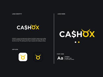 CashOx app ux ui lettering vector flat web icon website typography branding design illustration logo