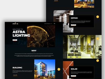 Astra Lighting Website Design animation minimal ux website typography vector branding illustration design logo