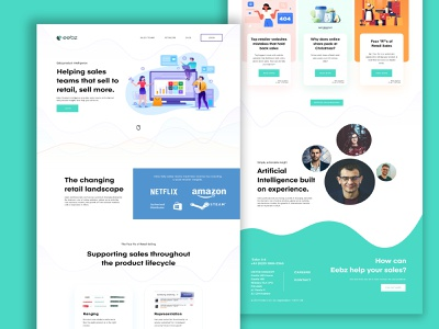 eebz Website Design vector typography web flat ui ux branding website illustration design