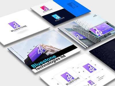 Bluestone Technologies Ltd design minimal ux lettering web typography logo branding illustration guidelines brand identity design identity