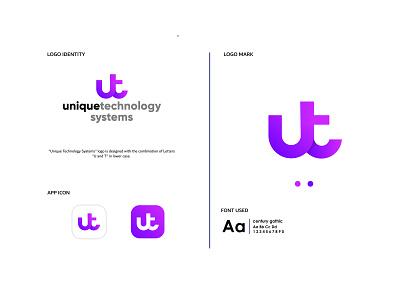 Unique Technology System lettering icon web flat website typography vector branding design illustration logo