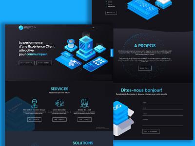 Strategis Website UI Design minimal identity web flat logo ui website illustration website ui design