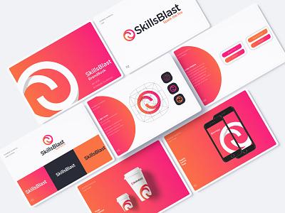 Skillblast identity logo design vector typography branding illustration logo guidelines