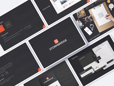 STORMBRIDGE vector minimal ux lettering web branding logo design illustration brand identity branding graphic brand style guide