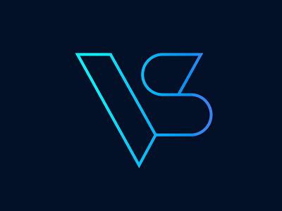 VS - monogram typography type geometry geometric lettering logodesign selfidentity identity selfbranding branding vslogo logo monogram s v vs