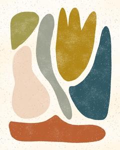 Blob abstract - multicolor