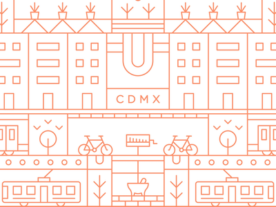 CDMX mexicanillustration city iconcity icons vector illustrator illustration