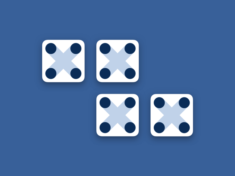 FOUR: 4 days until 2020! 2019 blue vector dice four roman numberals numbers 2020 newyears countdown typography illustration design