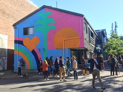 Mural painting in Montreal