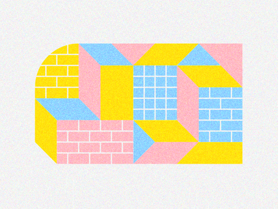 Some different modules motif vector brick street art illustration flat design illo module modular minimalism geometric