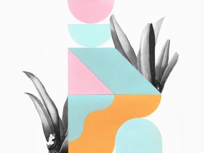 Collage florale