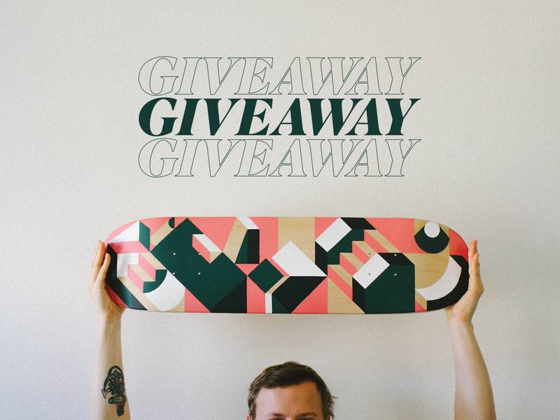 GIVEAWAY street art board skate deck skateboard skate free giveaway illustration minimalism geometric