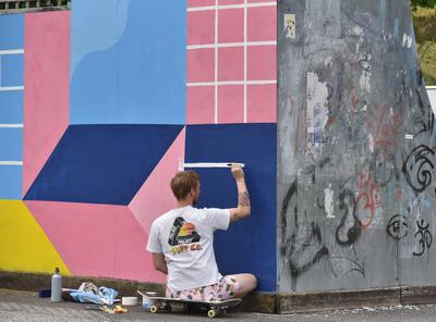 Painting a skatepark