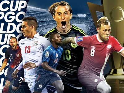 GoldCup world cup mens soccer concacaf costa rica canada cuba chicago trophy championship players composition design match sports futbol gold cup mexico fifa soccer