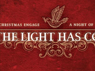 The Light Has Come logo christmas