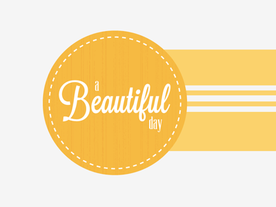 Beautiful Day logo type texture easter