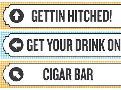Directional Signs wedding signs
