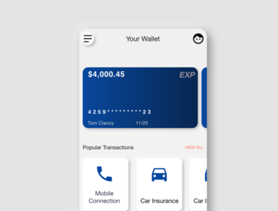 Mobile Wallet UI