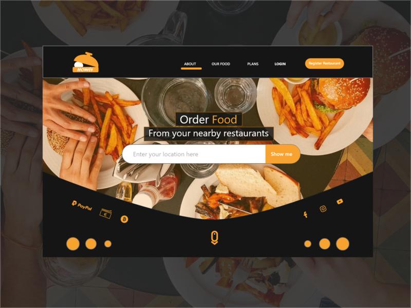 Food Header - XCard 6 header order food design vector illustration web design uiux aggregator website delivery food