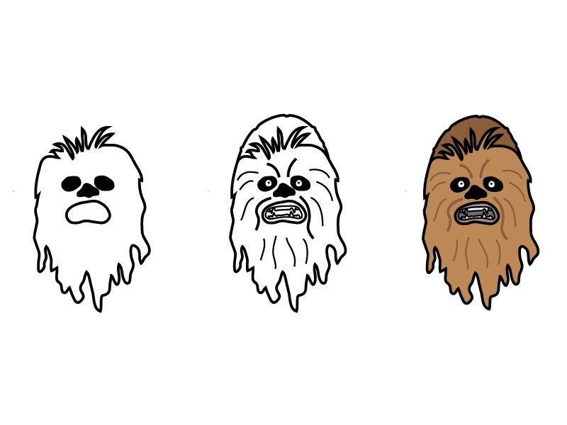 Chewbacca Sketch wookiee starwars illustration doodle chewbacca chewy star wars